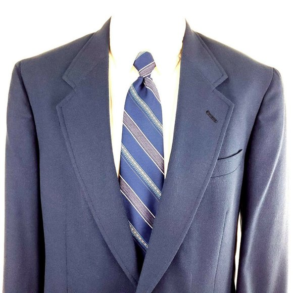 Austin Reed Suits Blazers 38l 2 Gold Button Wool Blue Blazer Tag Poshmark